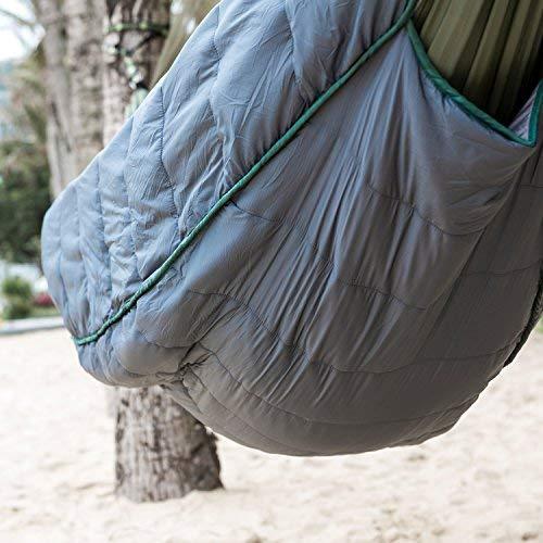 Ultralight Camping Hammock Windproof Warm Cover Winter Underquilt Blanket T8C6